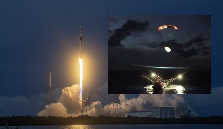 SpaceX attrape au vol la coiffe de son lanceur